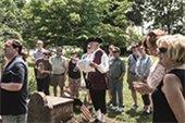 Group tour at Hanover's Whippany Burying Yard