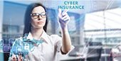Woman with words Cyber Insurance