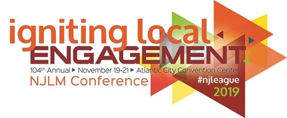 2019 NJLM Annual Conference Logo: Igniting Local Engagement