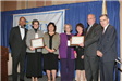 NLC President/Washington D.C. Mayor Anthony Williams (l) and DCA Comm. Susan Bass Levin (2nd from l) present Innovation in Local Gov't Awards