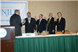 The 2006 NJLM Officers are sworn in by Mayor Cantu: Mayors DelVecchio, Feyl, Bowser, McDonough