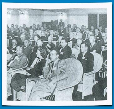 Attentive Audience at a League Conference 1951