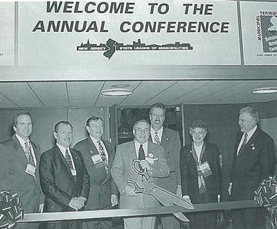 Ribbon cutting for the first League Conference