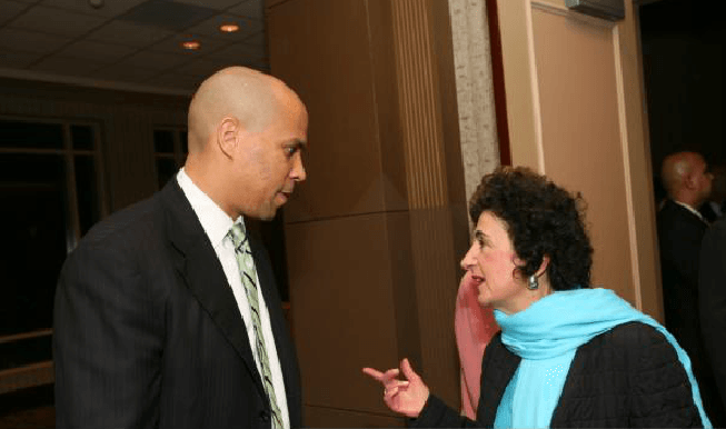 Cory Booker Talking to Woman