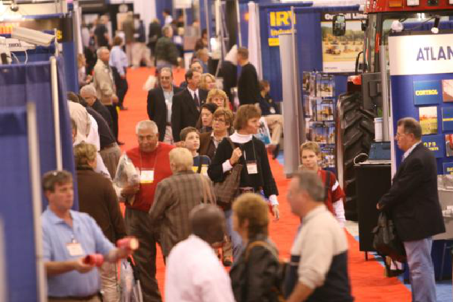 Busy Aisle Among Conference Booths