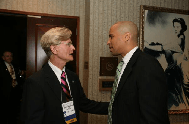Cory Booker and Attendee