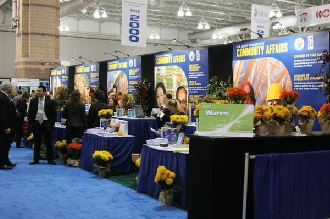 Community Affairs Booths With Flowers