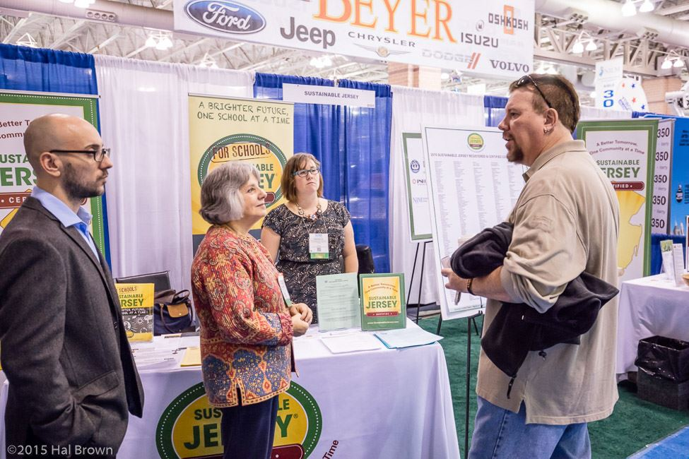 Group Speaking at Sustainable Jersey Booth