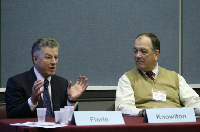 Panelists Florio and Knowlton