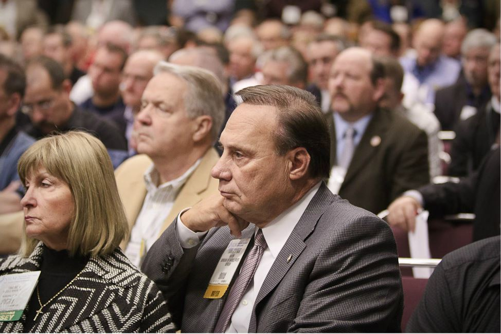 New Jersey Mayor Sits in the Crowd of Listening Conference Attendees
