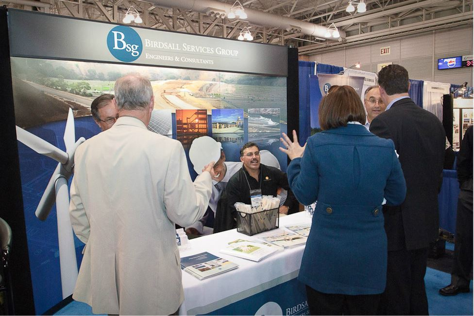 People Visit Birdsall Services Group Booth