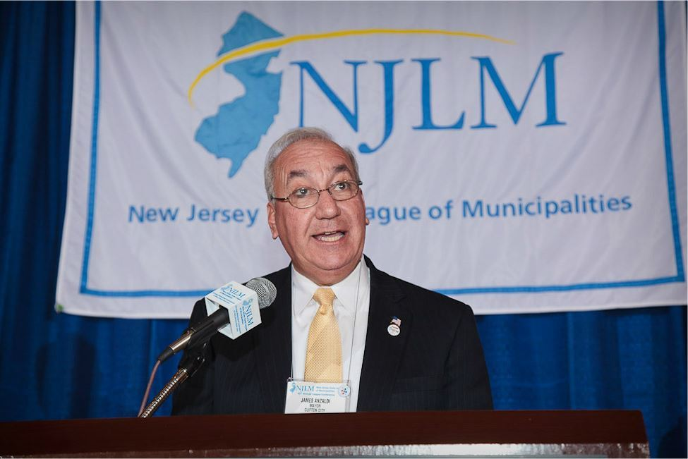 Clifton Mayor James Anzaldi Speaks at Podium