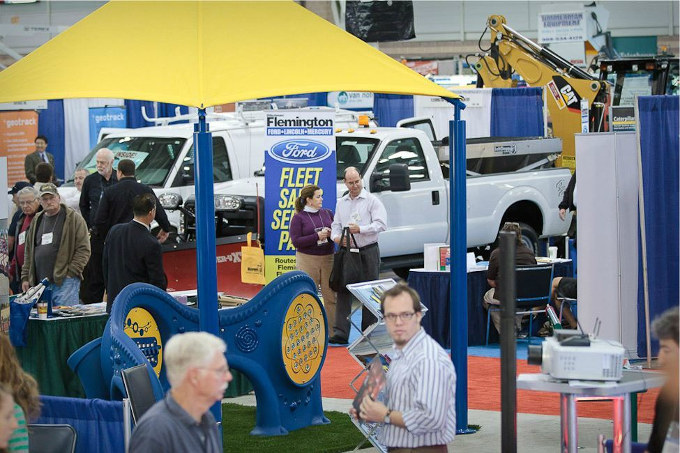 Exhibit Booths at NJLM Conference Including Fleet Vehicles