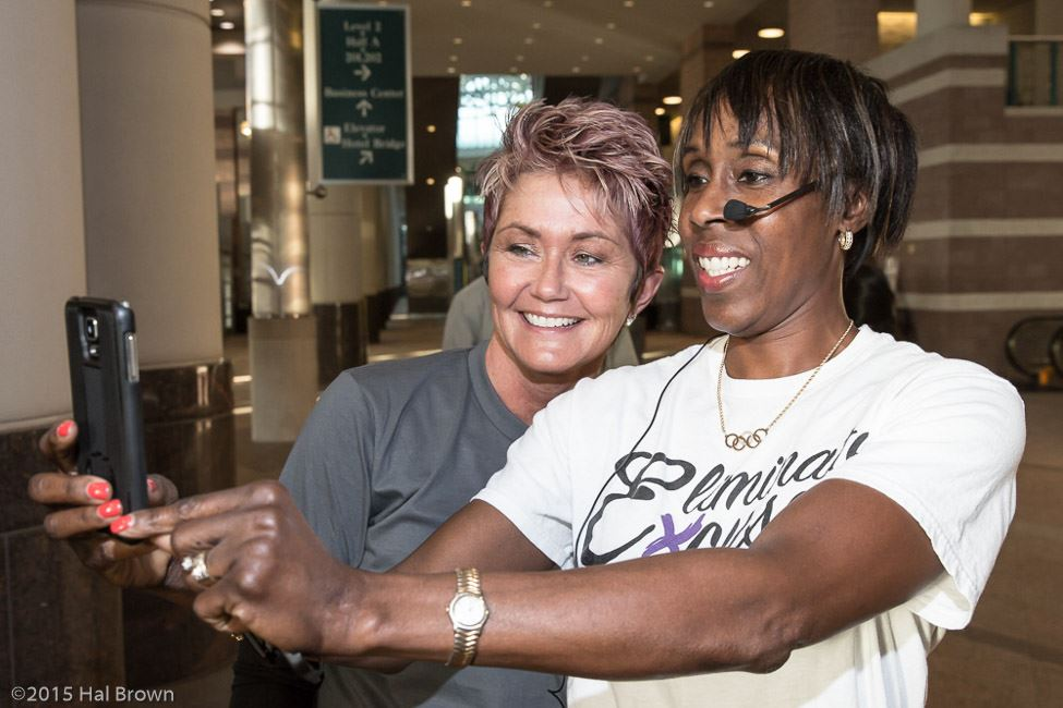 Joetta Clark Diggs Taking Selfie With Another Woman