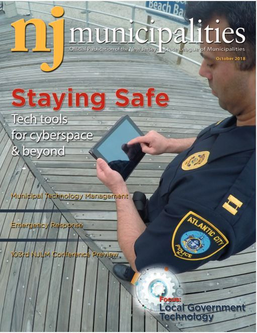 October 2018 NJ Municipalities magazine cover