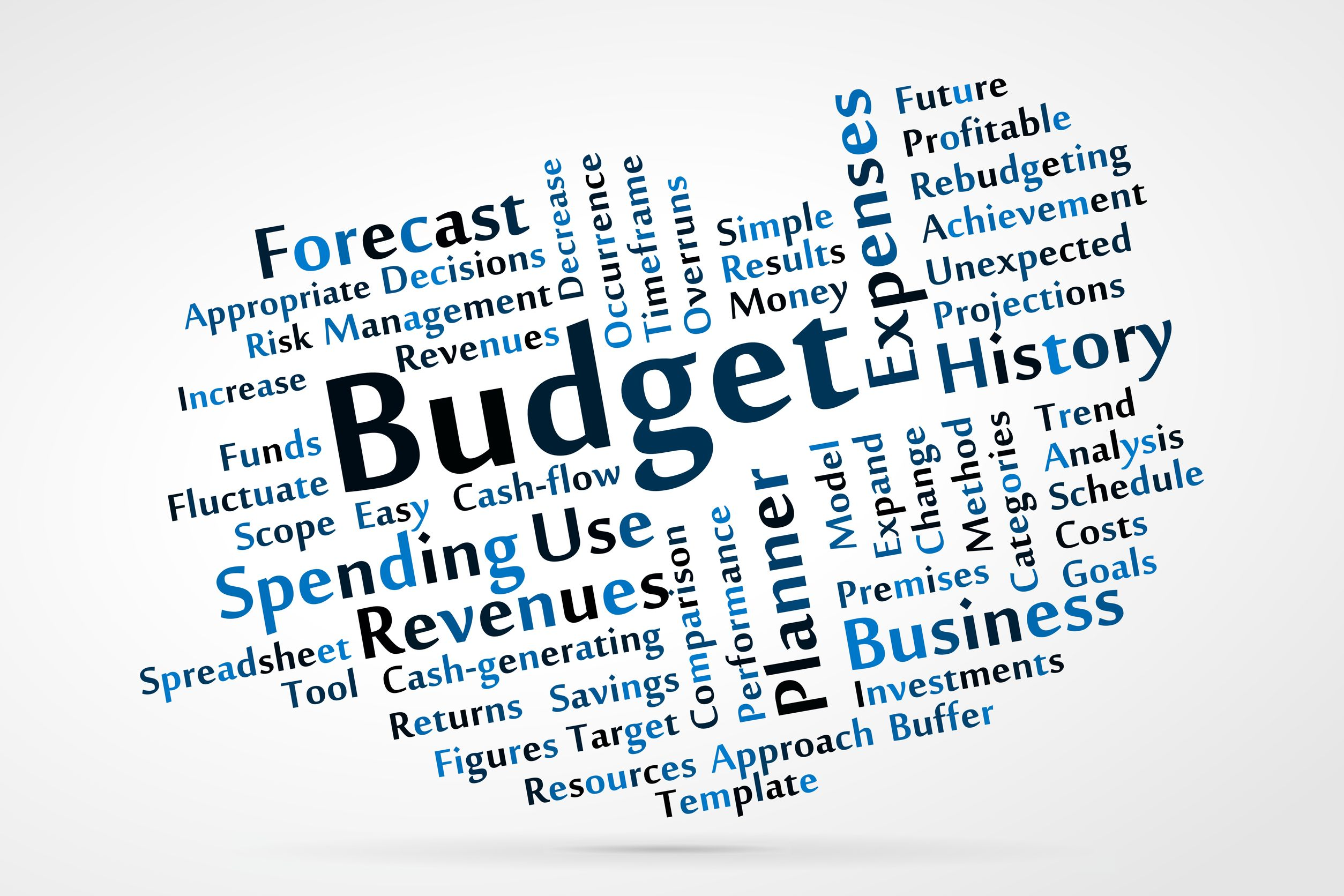 Budget Word Cloud Graphic