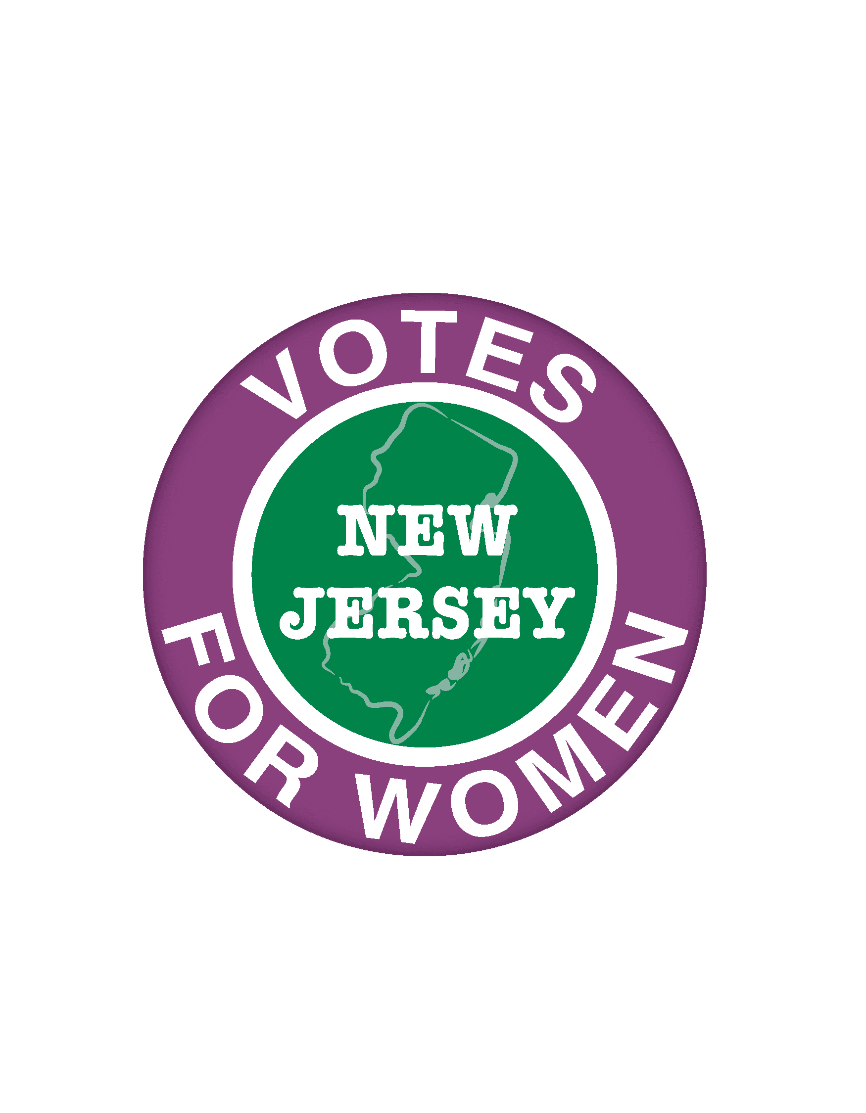 NJ Suffrage button New Jersey Votes for Women